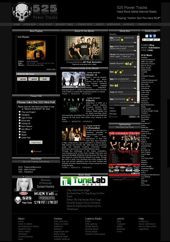 Music Website Design | Music Websites for Radio, Musicians ...
