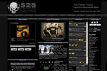 Radio websites, website design for 525 Power Tracks - Hard Rock Metal Internet Radio Station