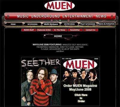 Music magazine website design