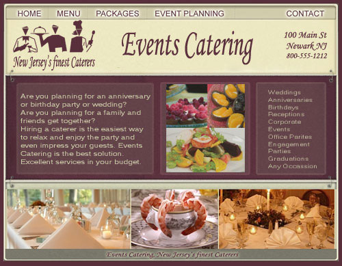 Restaurant Website Design | Catering Website Design | Restaurant ...