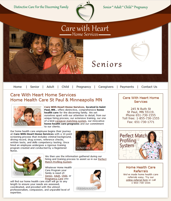 Home Health Care Website Design ...